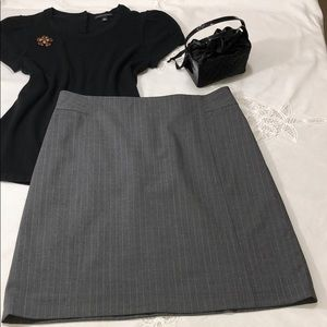 BANANA REPUBLIC Gray Stretch Pencil Skirt 12P